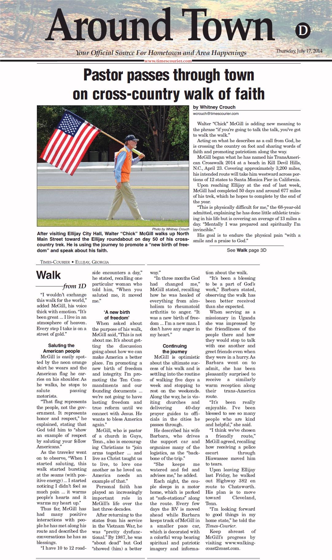 Walk Across America Press
